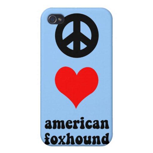 raposero americano del amor de la paz iPhone 4 fundas