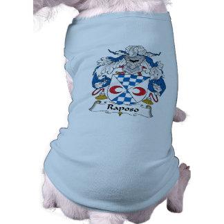 Raposo Family Crest Dog T-shirt