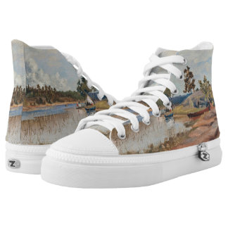 Rapp's Sunday Trip art shoes Printed Shoes