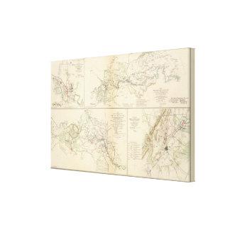 Rappahannock R, Chancellorsville, Fredericksburg Impresión En Tela
