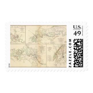 Rappahannock R, Chancellorsville, Fredericksburg Sellos Postales