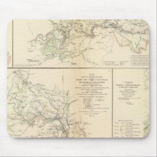 Rappahannock R, Chancellorsville, Fredericksburg Tapete De Ratones