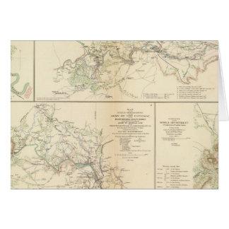 Rappahannock R, Chancellorsville, Fredericksburg Tarjeta De Felicitación