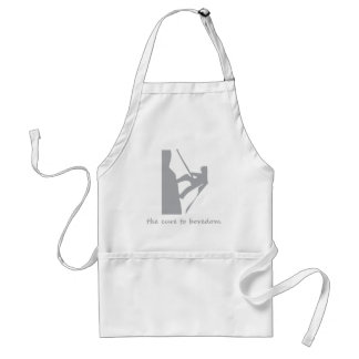 Rappelling....the cure to boredom adult apron