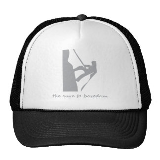 Rappelling....the cure to boredom trucker hat