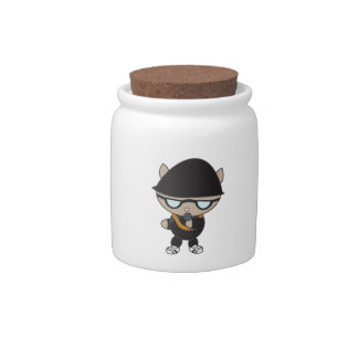Rapper Cat in Bell Hat Candy Dish