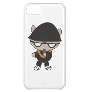 Rapper Cat in Bell Hat Case For iPhone 5C