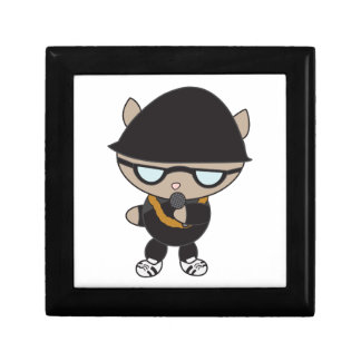 Rapper Cat in Bell Hat Jewelry Boxes