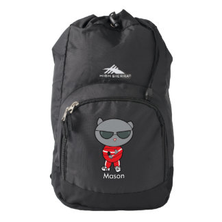 Rapper Cat in Track Suit Backpack