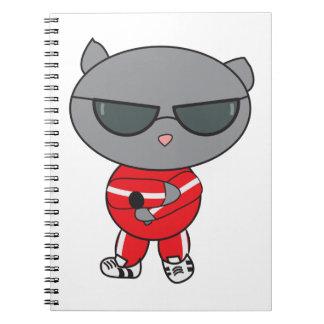 Rapper Cat in Track Suit Notebook