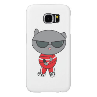 Rapper Cat in Track Suit Samsung Galaxy S6 Case
