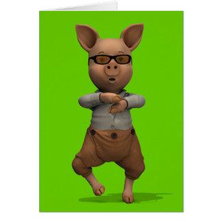 Rapper Pig Card