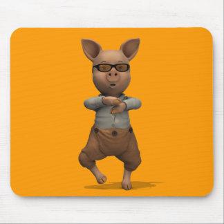 Rapper Pig Mouse Pad