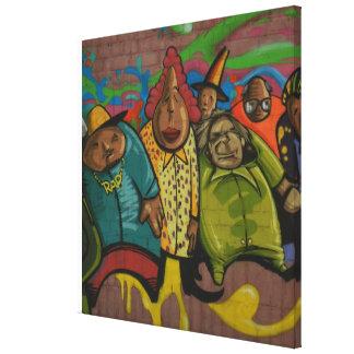 Rapper urban graffiti Street art, real world art Canvas Print