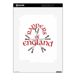 Rappers England Decals For The iPad 2