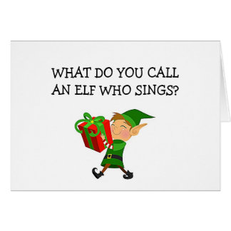 """""""RAPPING ELF"""" IS FLIRTING OUTRAGOUSLY AT CHRISTMAS GREETING CARD"""