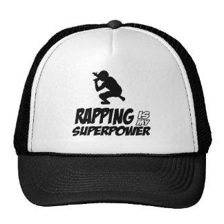 Rapping hip hop designs trucker hat