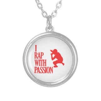 rapping  sports designs round pendant necklace
