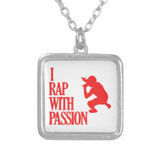 rapping  sports designs square pendant necklace