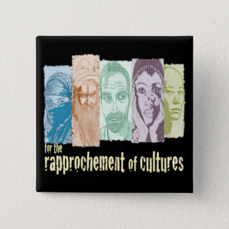 Rapprochement of cultures. button