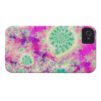 Rapsberry Heart Star, Abstract Heart Beat of Love iPhone 4 Cover