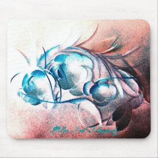 Rapsodia del rojo azul de Roberto E Meisinger Alfombrillas De Raton