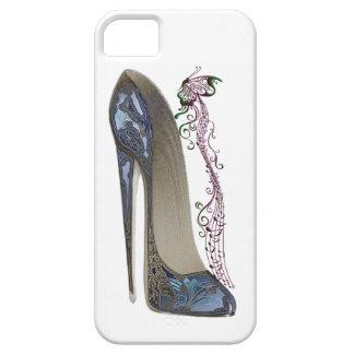 Rapsodia en arte azul del zapato del estilete funda para iPhone SE/5/5s