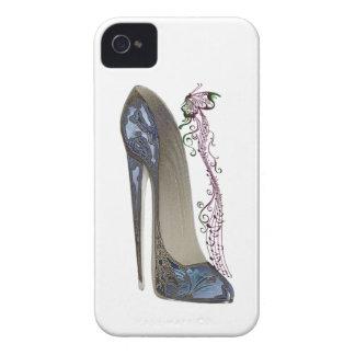 Rapsodia en arte azul del zapato del estilete iPhone 4 Case-Mate protectores