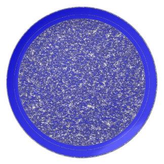 Rapsodia en placa azul plato para fiesta
