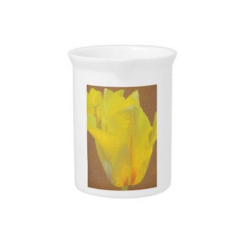 Rapsodia floral en amarillo jarron