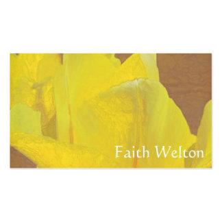 Rapsodia floral en amarillo tarjetas de visita