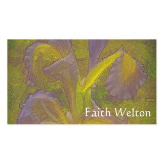 Rapsodia floral en lavanda tarjetas de visita