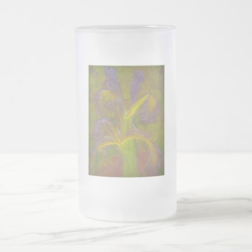 Rapsodia floral en lavanda taza cristal mate