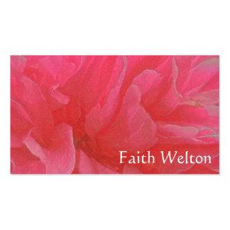 Rapsodia floral en magenta y rojo tarjetas de visita