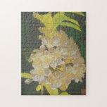 Rapsodia floral en oro y blanco puzzles con fotos