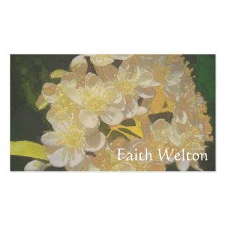 Rapsodia floral en oro y blanco tarjetas de visita