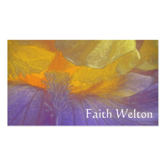 Rapsodia floral en púrpura y amarillo tarjetas de visita
