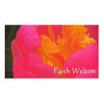 Rapsodia floral en rojo y amarillo tarjetas de visita