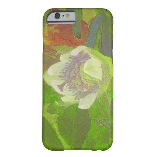 Rapsodia floral en verde funda para iPhone 6 barely there