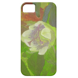 Rapsodia floral en verde iPhone 5 funda