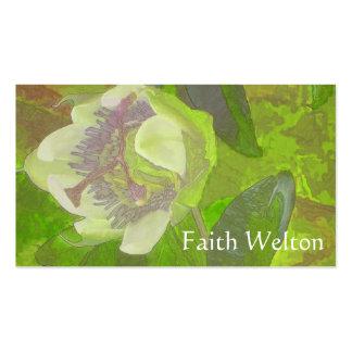 Rapsodia floral en verde tarjetas de visita