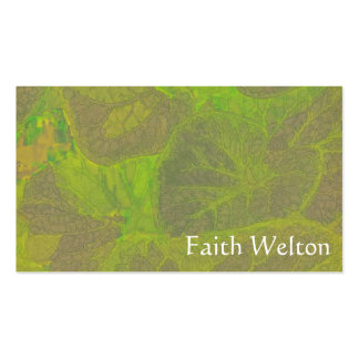 Rapsodia floral en verde y Brown Tarjetas De Visita