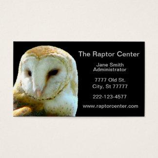 Raptor Barn Owl Profile Business Card