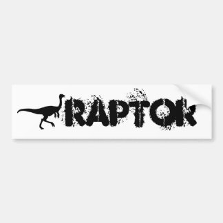 Raptor Bumper sticker