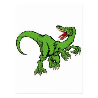 raptor color post card