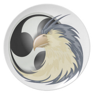 raptor eagle and music plate