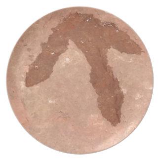 Raptor Footprints Plate