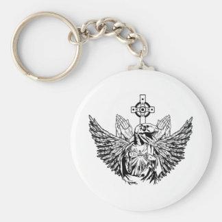 Raptor Jesus Loves You Keychains