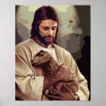Raptor Jesus Print