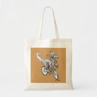 Raptor on a Bike - Tote Bag